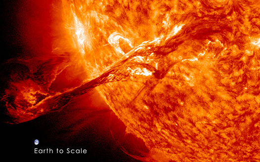 The eruption, an example of a coronal mass ejection