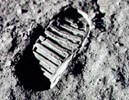 Neil Armstrong's footprint on the moon
