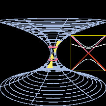 Illustration of a wormhole